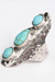 Waterfall Droplet Turquoise Stone Silver Ring.