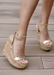 Women's Gold Amora Cork Platform Wedges by Alexandria Brandao Shoes