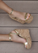 Amora Cork Platform Wedges in Gold