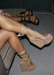 Alexia Suede Platform Tie-Up wedges in Nude and Black