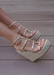 Astrid Espadrille Wedges in Gold. Side VIew