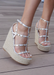 Astrid Espadrille Wedges in Silver