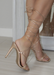 Ana lace up rose gold heels. Back view