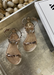Aria Kids rose gold jelly sandals with studded thin strap across the toes and thin ankle strap.