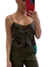 Our Women's Camo and Army Silk Tank Top features adjustable spaghetti straps and a relaxed fit. Woven.