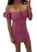 Pink OFF SHOULDER BODYCON MINI DRESS.