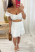 White Crochet Skirt Set
