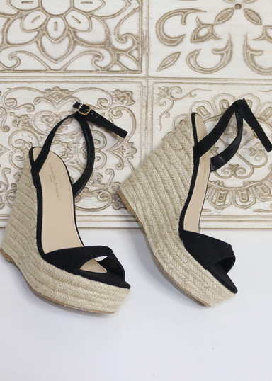 Alyssa B Espadrille Wedge in Nude