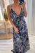 Navy Blue with Gold and colorful snake print maxi dress that come with matching face mask.