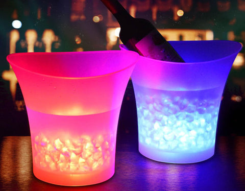 Cava - 7 Color LED Plastic Ice Bucket