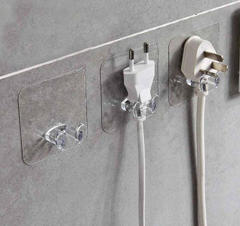Andi - Adhesive Wall Mounted Plug Holder