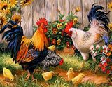 Chickens in the Garden - GemPaint™ Kit
