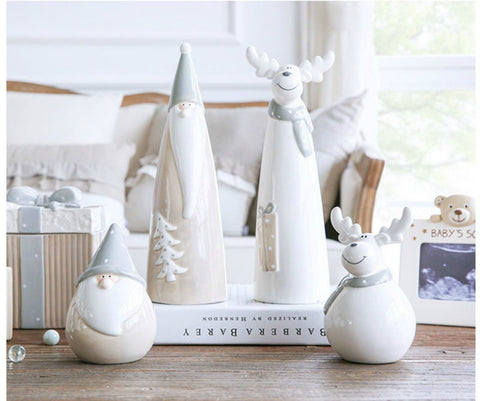 Hus - Modern Nordic Ceramic Christmas Decoration