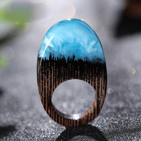 Quanta - Oval Blue Resin Ring