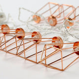 Rose Gold Frame LED Fairy Lights