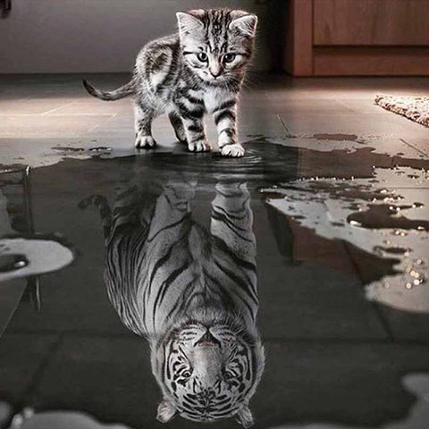 Tiger Reflection - GemPaint™ Kit