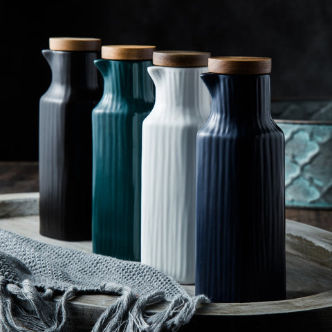 Anette - Matte Ceramic Oil Bottle