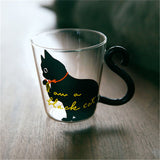 Meow - Glass Cat Mug