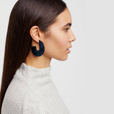 Nora - Flat Semi Hoop Earrings