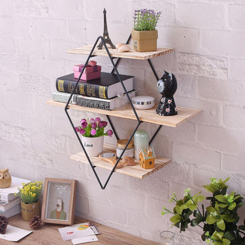 Tri - Three Tier Iron Frame Shelf