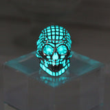 Glint - Glow In the Dark Punk Skull Ring