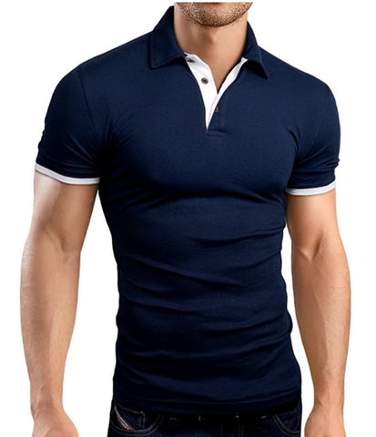 Theo - Slim Fit Collared V-Neck T-Shirt