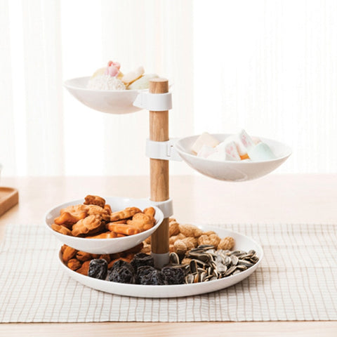 Catini - Multi Level Detachable Wooden Serving Platter