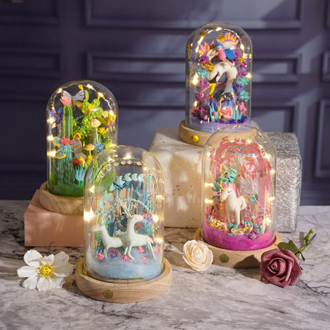 DIY Clay Figurine Magical Light Up Dome