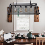 Eunike - Modern Industrial Hanging Cage Light