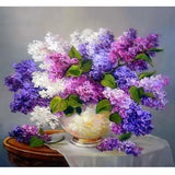 Purple Flowers - GemPaint™ Kit