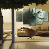 5 Piece Wolf Wall Canvas