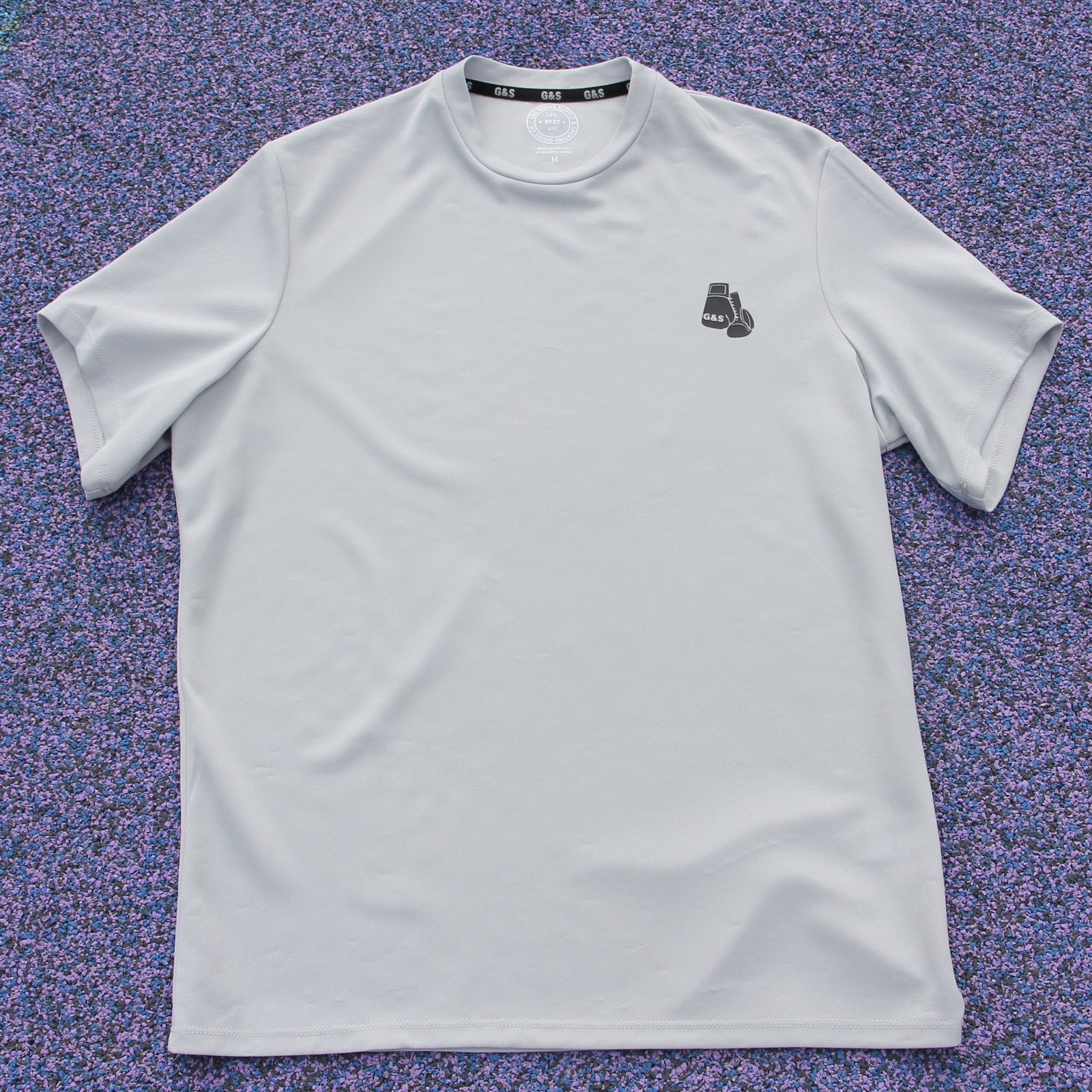 Mesh Training Tee - Light Grey