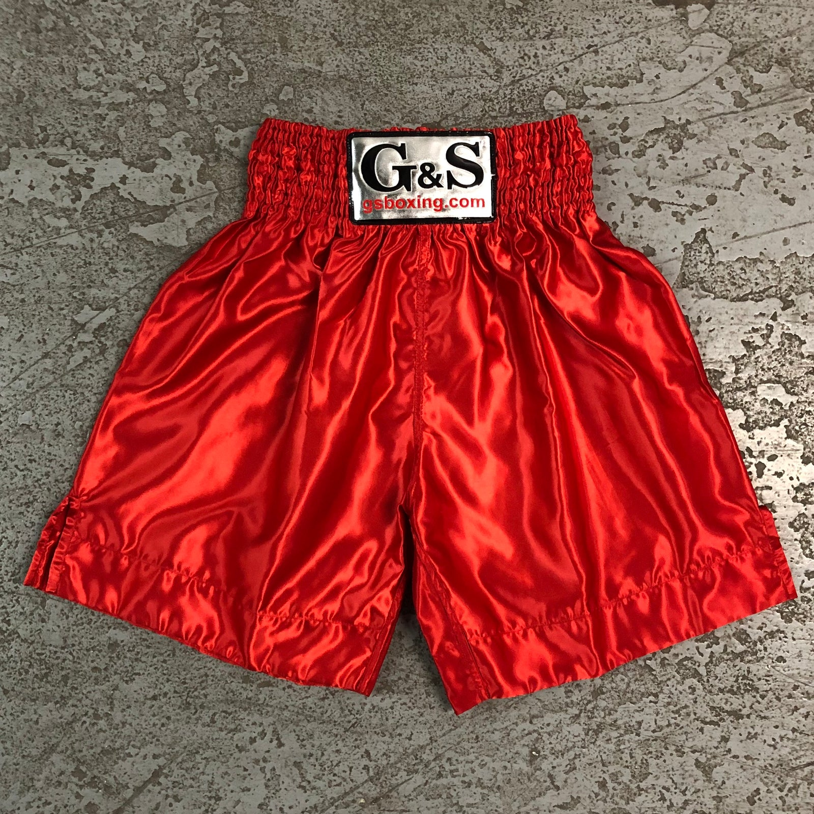 Throwback Fight Trunks - Red