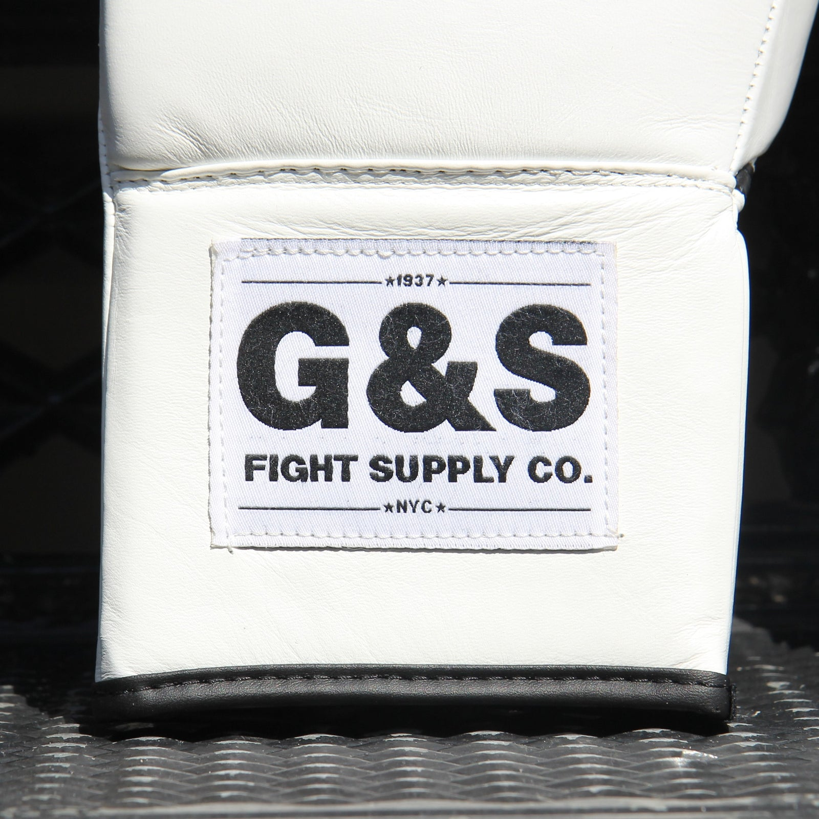 The Original - White Leather Lace Up Gloves