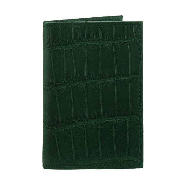 Richmond Bi-Fold Wallet - Forest Green Alligator - PRE-ORDER