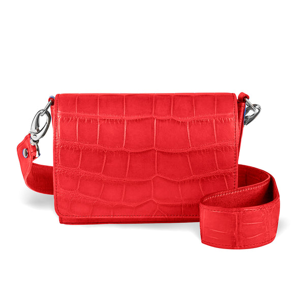 Lola Crossbody - Red Alligator