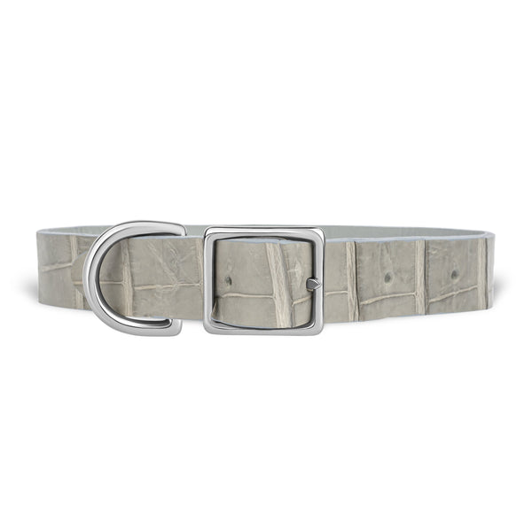 York Dog Collar - Grey Alligator