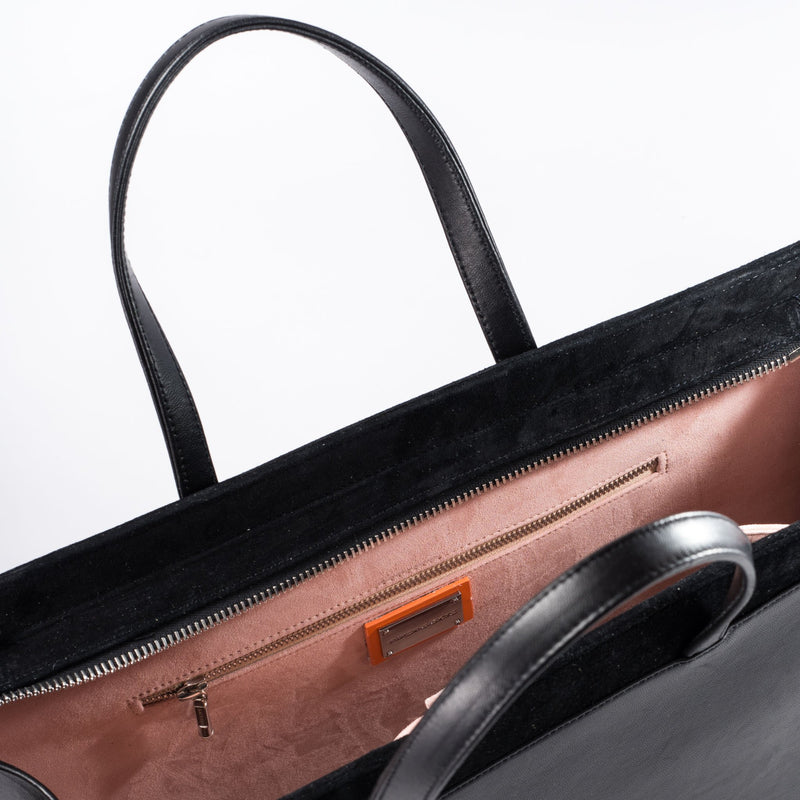 Interior view of Piper & Skye Braemar Pirarucu Tote bag