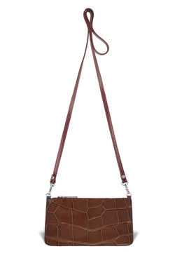 Nola Crossbody - Cognac Alligator - PRE-ORDER