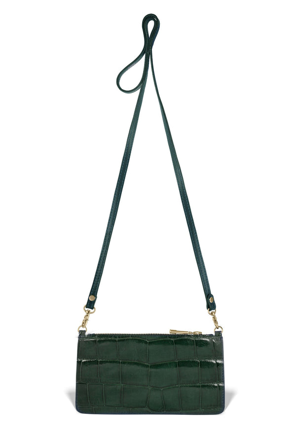 Nola Crossbody - Forest Green Alligator - PRE-ORDER