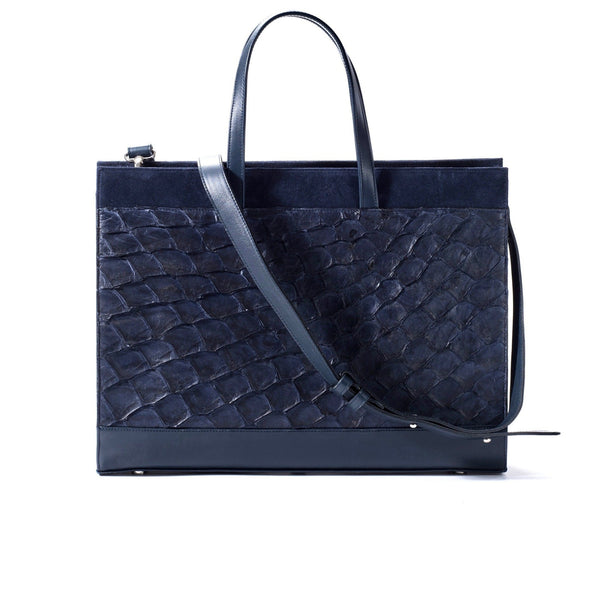 Braemar Tote - Evening Blue Pirarucu - PRE-ORDER