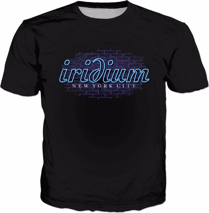 Iridium Neon Sign Black T-Shirt