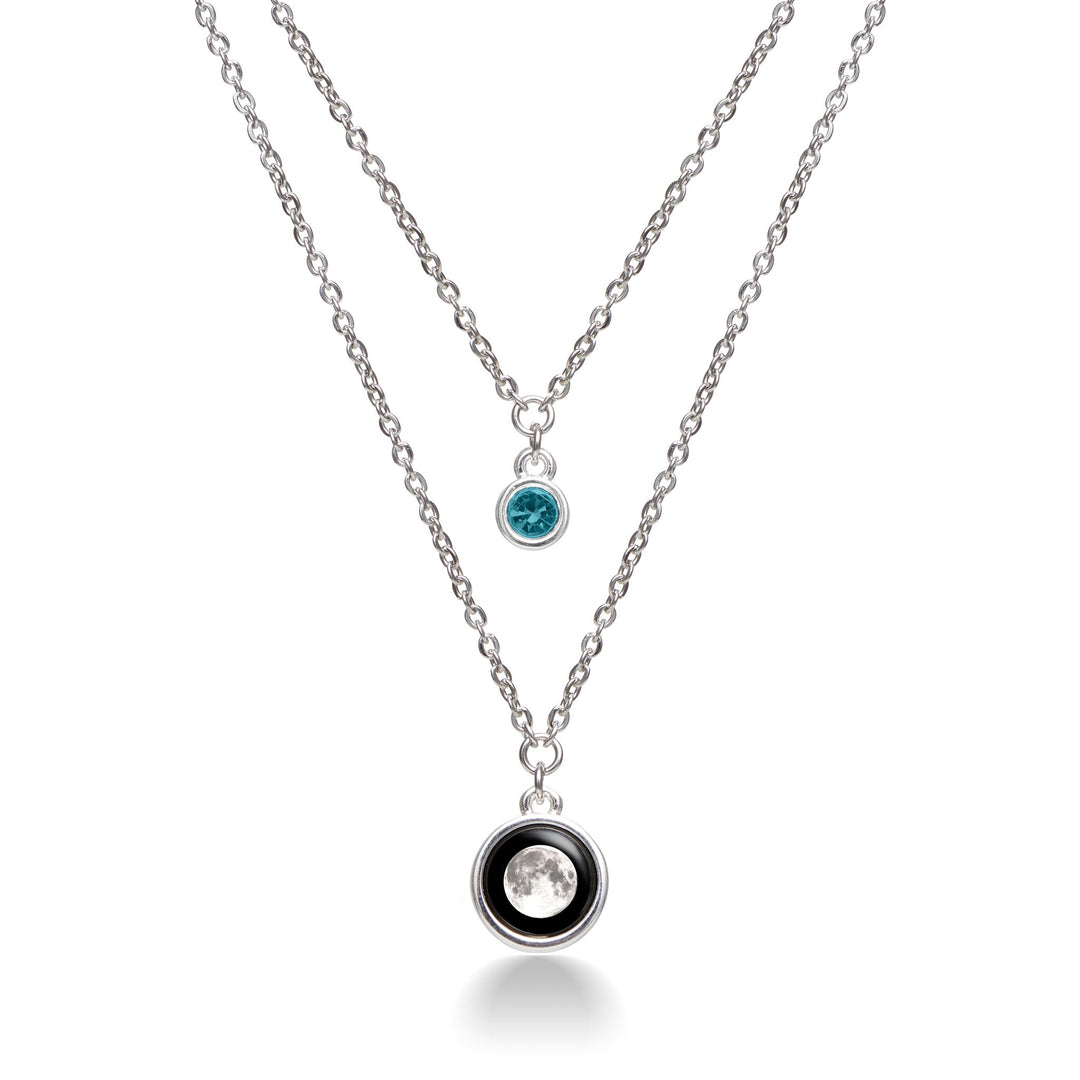 Birthstone Layered Mirror Necklace