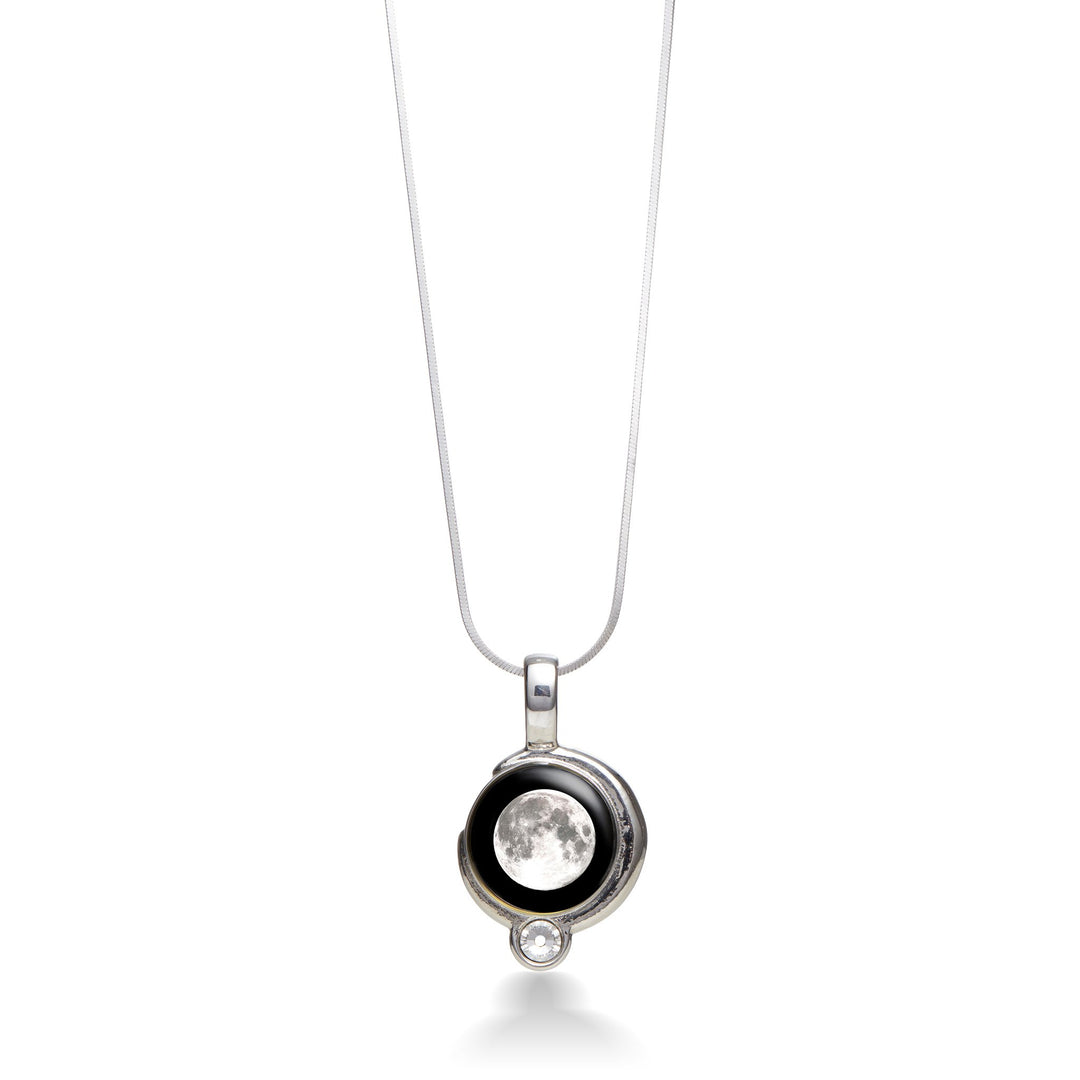 sky crescent night copy of with star products jewelry black necklace silver moon anomaly