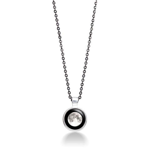 Moonlight Meteor Necklace in Silver