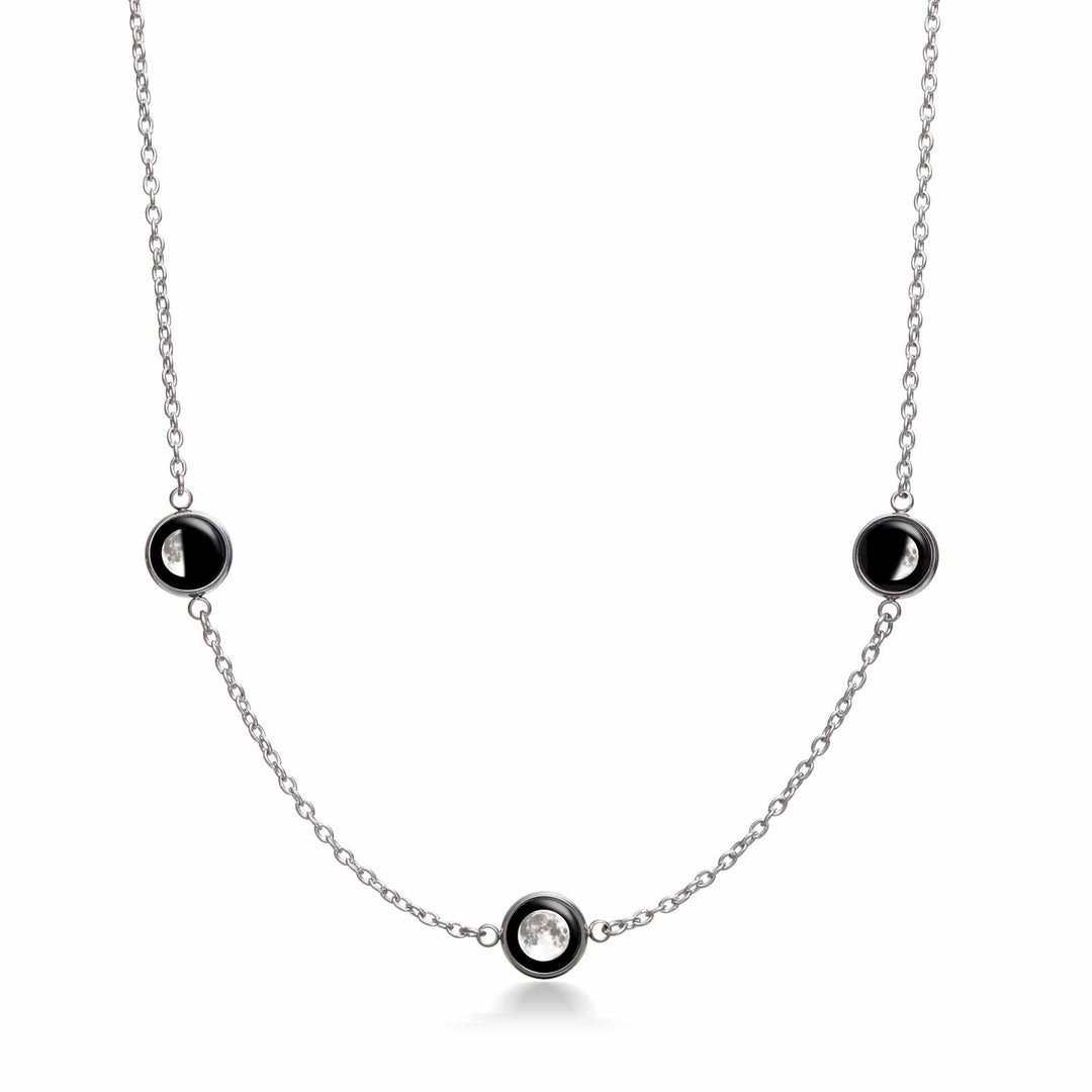 3-Charm Moon Memoir Necklace
