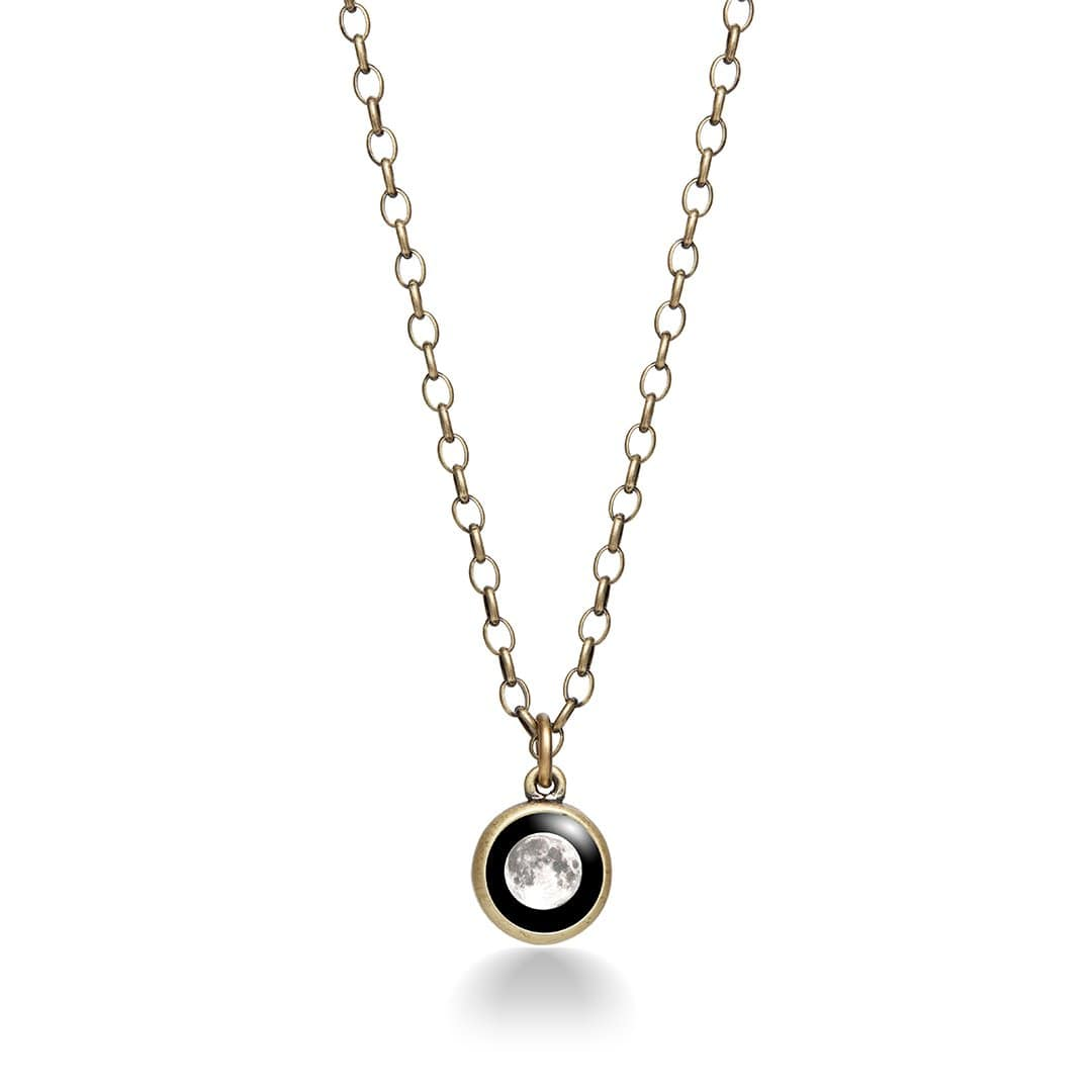 Moon Brass Necklace for Him and Her