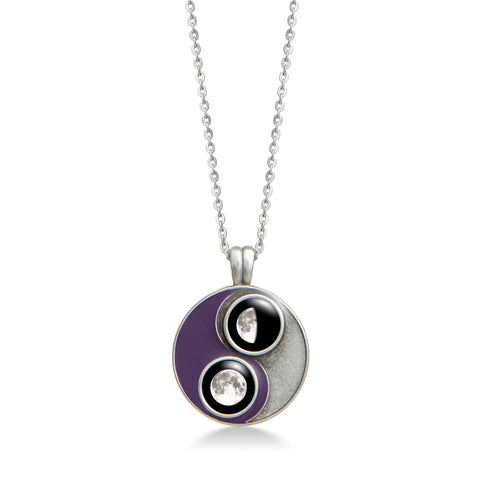Violaceous Taijitu Necklace in Purple