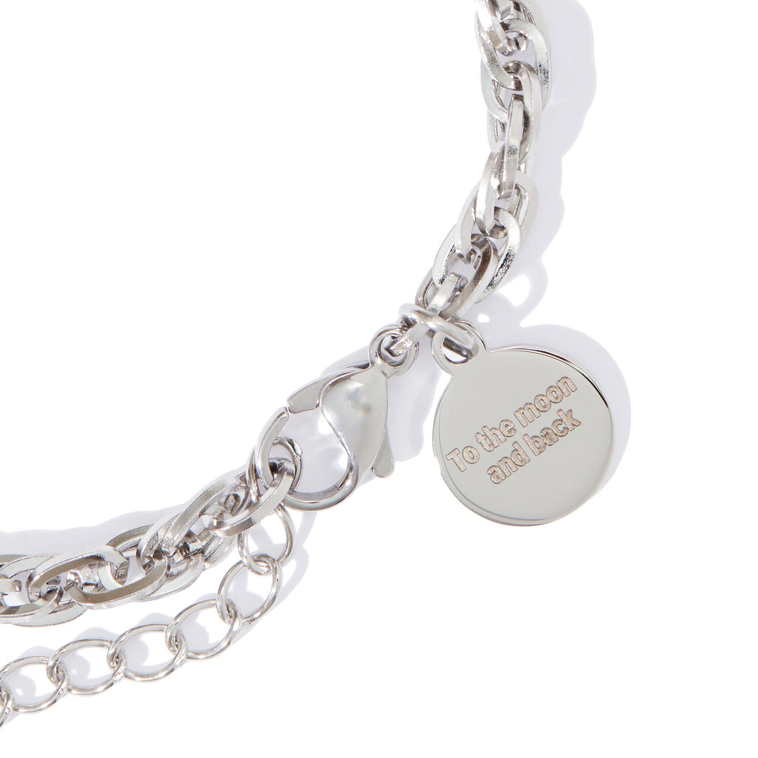 Stainless Steel Brilliance Bracelet (4-Charm)