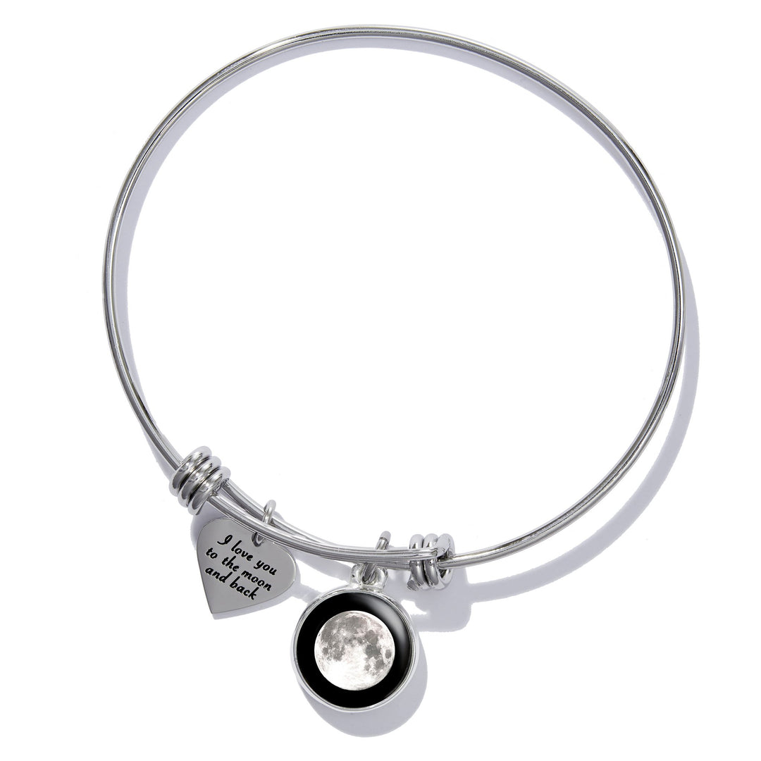 Message of Love Heart Bangle Bracelet